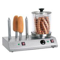 Μηχανή Hot Dog Ατμού Με 4 Υποδοχές Και Βραστήρα Bartscher
