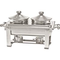 Μπαιν Μαρί (Chafing Dish) Με 2 Λεκανάκια (2x4Lt) Stalgast 433240