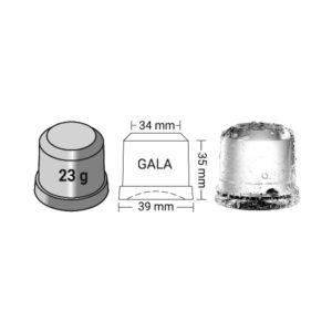Παγομηχανή 105kg Ψεκασμού (Παγάκι Συμπαγές 23gr) ITV Gala NG110