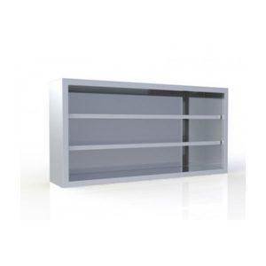Ποτηριέρα 140x30x70cm Χωρίς Πόρτες Με 2 Ρυθμιζόμενα Ράφια