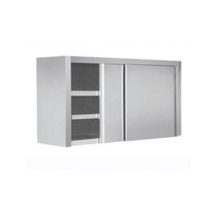 Ποτηριέρα 190x34x72cm Με Πόρτες Inox Συρόμενες