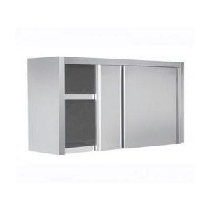 Πιατοθήκη 180x40x72cm Με Πόρτες Inox Συρόμενες