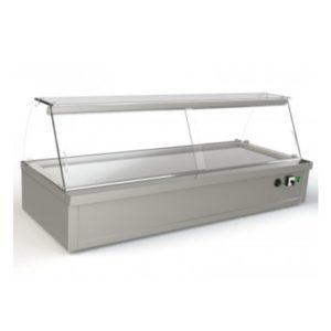 Επιτραπέζια Θερμαινόμενη Βιτρίνα (94x70x50cm) Inox