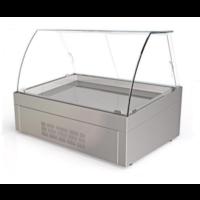 Μπαιν Μαρί Επιτραπέζιο Για 2 GN1/1 (80x60x60cm) Με Βιτρίνα