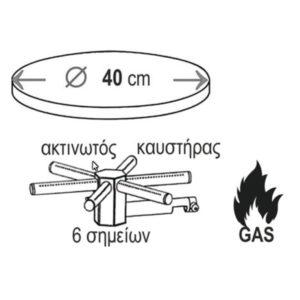 Κρεπιέρα Αερίου φ40 Μονή Bartscher