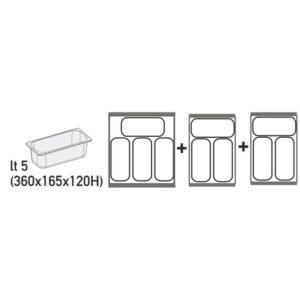Καταψύκτης (Για 10 Λεκανάκια) Με Συρόμενα Ίσια Κρύσταλλα Klimasan-Metalfrio D400FF