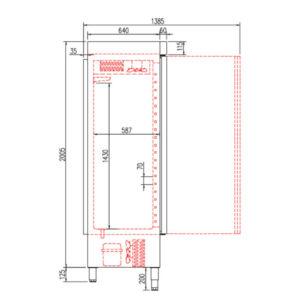 Ψυγείο-Θάλαμος Συντήρησης (1130Lt) Inox Με 3 Πόρτες CORECO ACR-1303