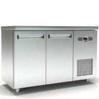Ψυγείο Πάγκος Συντήρηση (135x70x87cm) Με 2 Πόρτες Και Μηχανή Στα Δεξιά