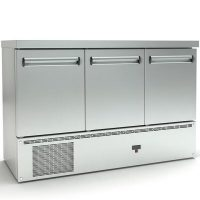 Ψυγείο Πάγκος Συντήρηση (135x70x87cm) Με 3 Πόρτες Και Μηχανή Κάτω