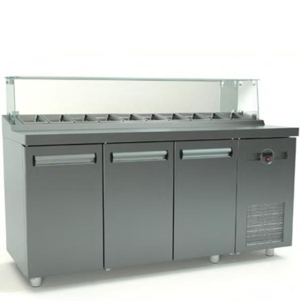Ψυγείο Saladette (180x70x126cm) Με 3 Πόρτες