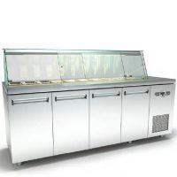 Ψυγείο-Βιτρίνα Σαλατών (225x60x126cm) Με 4 Πόρτες Και Μηχανή Δεξιά